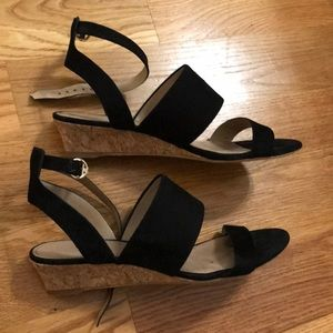 b665a73d0 Tory Burch Shoes - Tory Burch North Suede Low-Wedge Sandal in Black